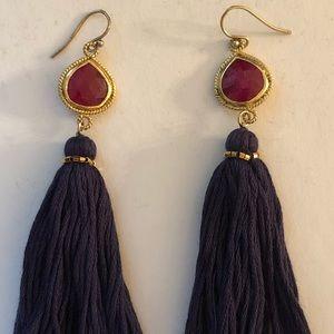NEW Chan Luu Ruby Tassel Earrings